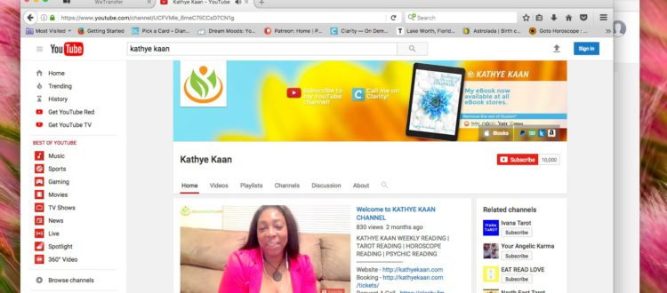 Thank You Subscribers Kathye Kaan Youtube Channel Clairvoyant Psychic Quantum Healer Spiritual Medium Horoscope Tarot Numerology Video Readings