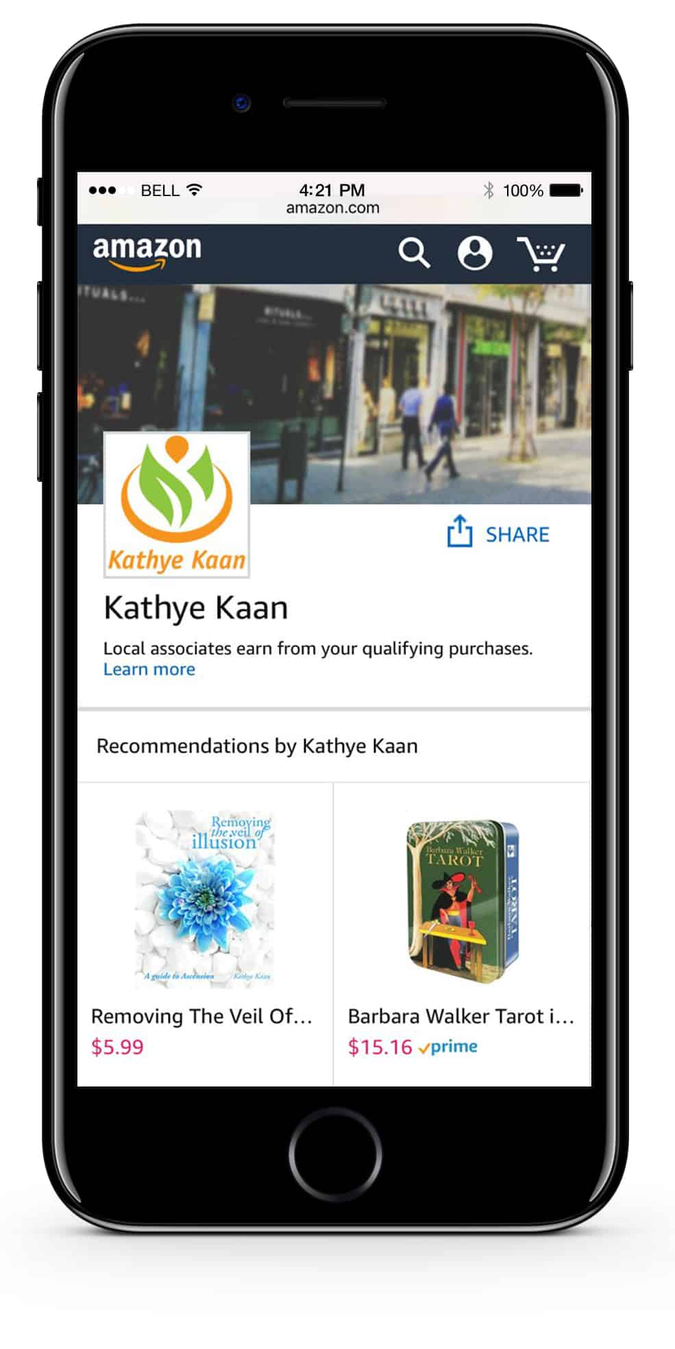 Kathye Kaan Amazon Recommended Products Page Cards Candles Crystals