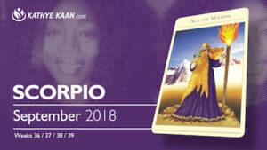 scorpio psychic reading september 2018 kathye kaan tarot reading horoscope