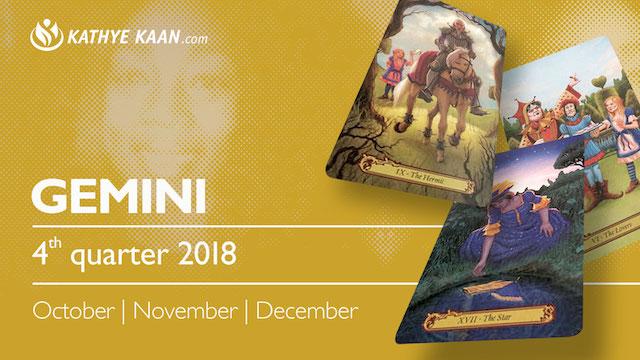 GEMINI QUARTERLY READING 2018 OCTOBER NOVEMBER DECEMBER KATHYE KAAN