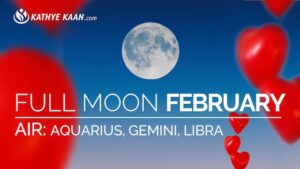 February 2019 Full Moon Reading for Aquarius, Gemini and Libra signs. Air element.