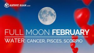 February 2019 Full Moon Reading for Cancer, Pisces and Scorpio signs. Water element.