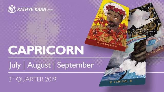CAPRICORN July August September 2019 Extended Reading