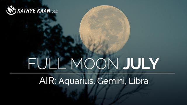 July 2019 Full Moon Reading Aquarius Gemini Libra | Air Sign