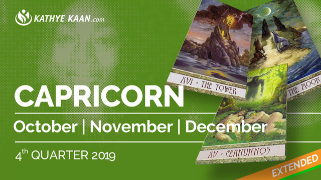 CAPRICORN OCTOBER, NOVEMBER and DECEMBER Tarot READING 2019 by KATHYE KAAN
