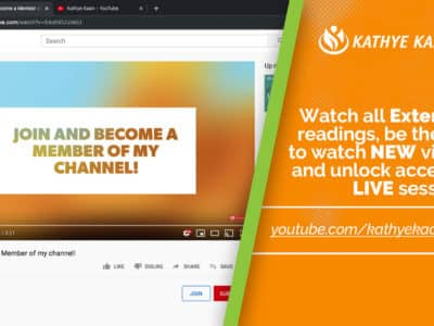 Join My YouTube Channel and Become a Member to watch Extended readings and unlock access to LIVE sessions