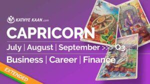 CAPRICORN JULY AUGUST SEPTEMBER Q3 2020 BUSINESS CAREER FINANCE READING HOROSCOPE