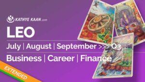 LEO JULY AUGUST SEPTEMBER Q3 2020 BUSINESS CAREER FINANCE READING HOROSCOPE