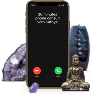30 minutes psychic phone consult with clairvoyant medium and healer Kathye Kaan