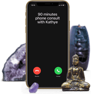 90 minutes psychic phone consult with clairvoyant medium and healer Kathye Kaan