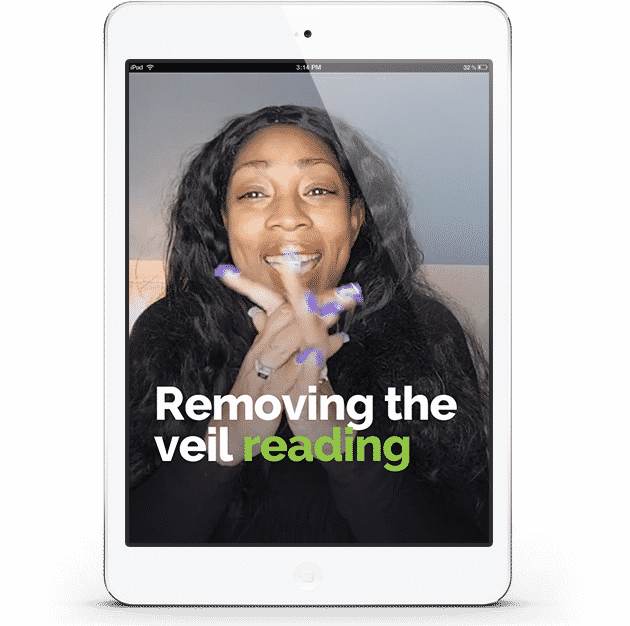 Removing The Veil reading session by Life Coach Kathye Kaan